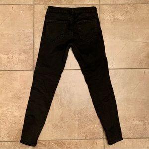 Zara Jeans - Zara Basic Z1975 Denim Black Moto Pants